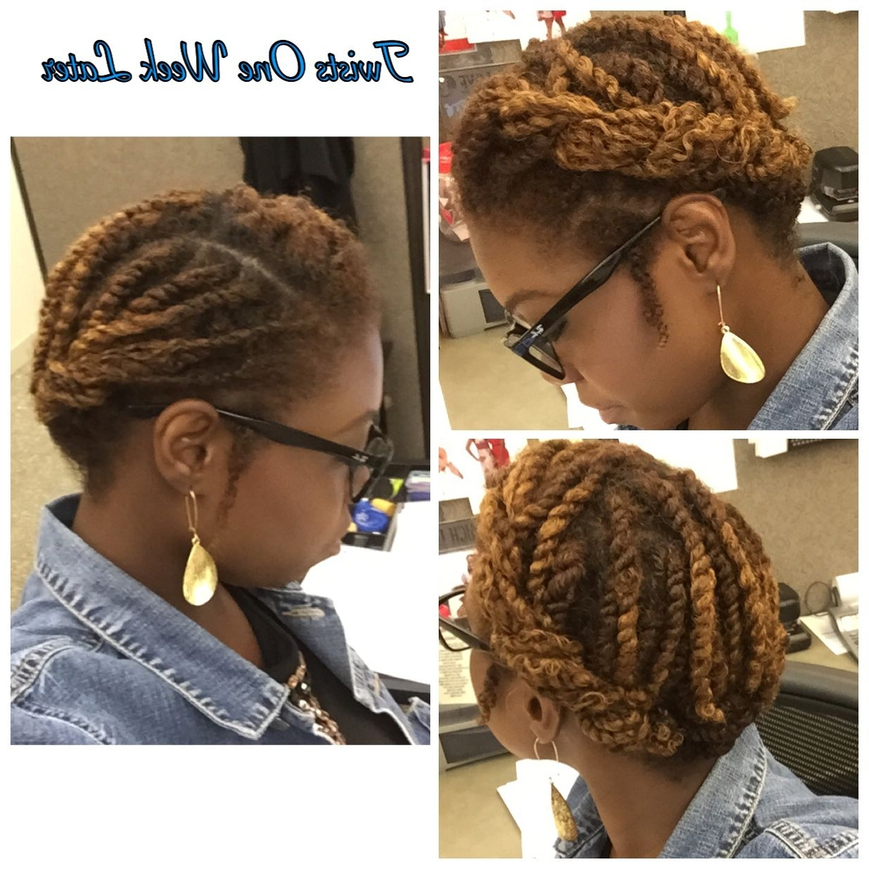 Two Strand Twists Pin Up | Twist | Pinterest | Natural, Protective Throughout 2 Strand Twist Updo Hairstyles (View 14 of 15)