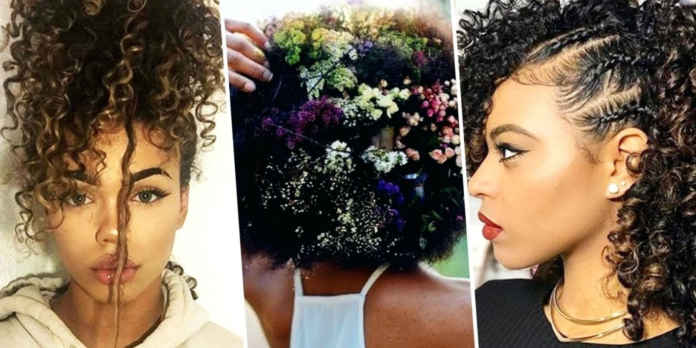 Unique Prom Hairstyles For Long Natural Curly Hair Naturally Curly Throughout Naturally Curly Hair Updo Hairstyles (View 13 of 15)