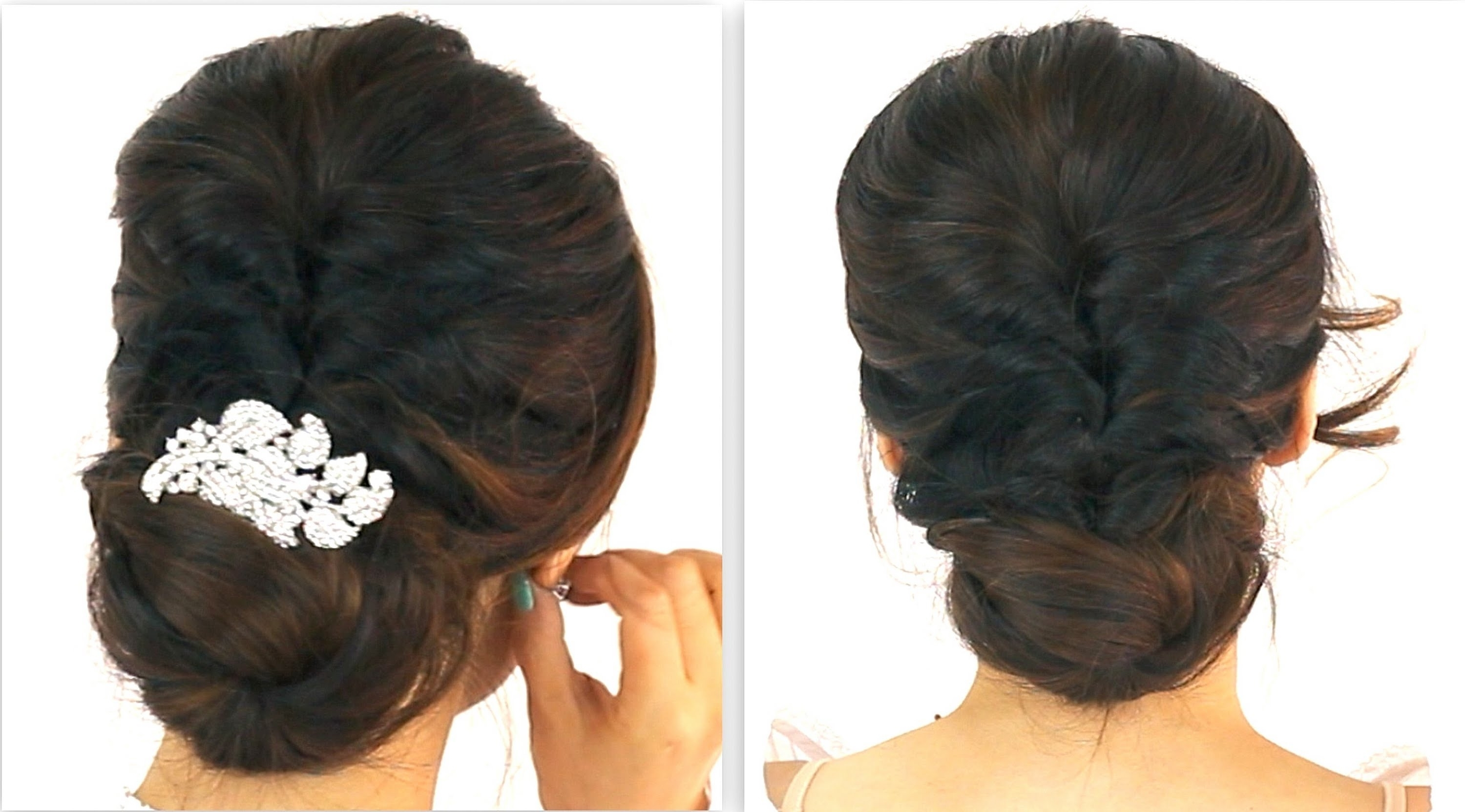 Up Hairstyles For Long Hair Updo Wedding Unbelievable In A Bun Easy Throughout Simple Hair Updo Hairstyles (View 15 of 15)