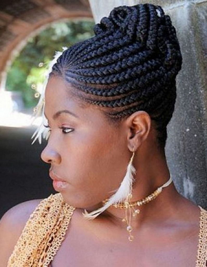 Updo Braid Styles For African American Haircuts Black Pictures Of Within Black Braided Bun Updo Hairstyles (View 15 of 15)