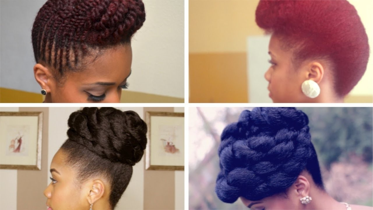 Updo Braiding Styles Natural Hair Natural Braided Updo Hairstyle For Braided Updo Hairstyles For Natural Hair (Gallery 12 of 15)