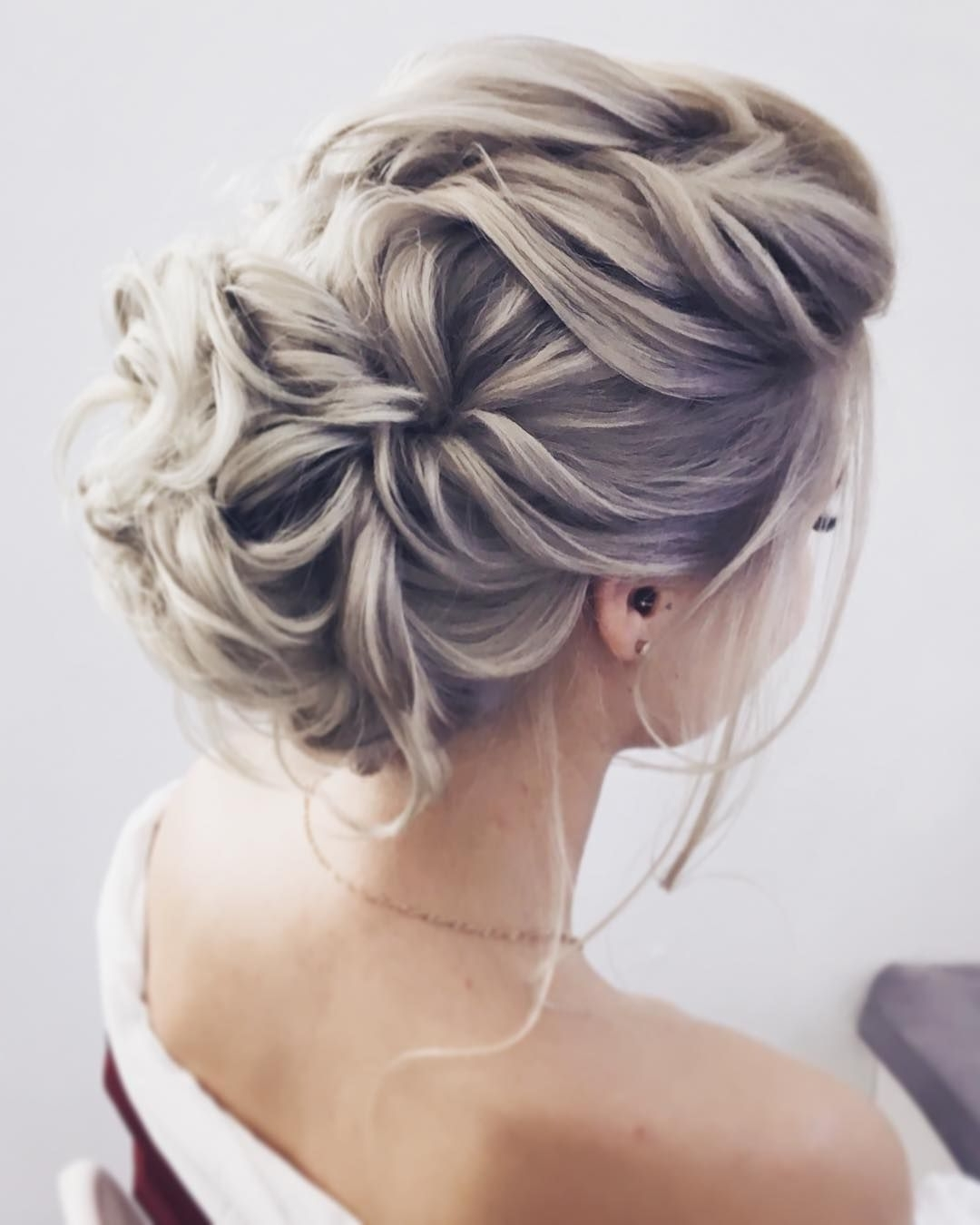 Updo Elegant Wedding Hairstyles For Long Hair #weddinghairstyles In Messy Updo Hairstyles For Wedding (Gallery 2 of 15)