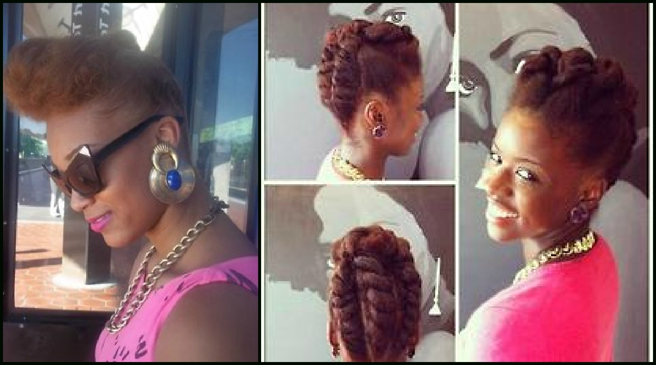 Updo For Medium Length Natural Hair | Find Your Perfect Hair Style For Updo Hairstyles For Medium Length Natural Hair (View 11 of 15)