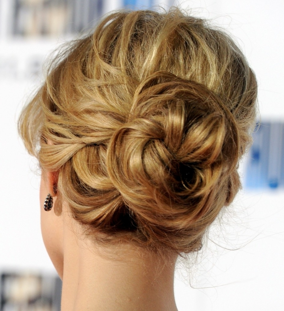Updo Hairstyles Braidal Low Bun Hairstyle With Sassy Braid Designers With Updo Low Bun Hairstyles (View 12 of 15)