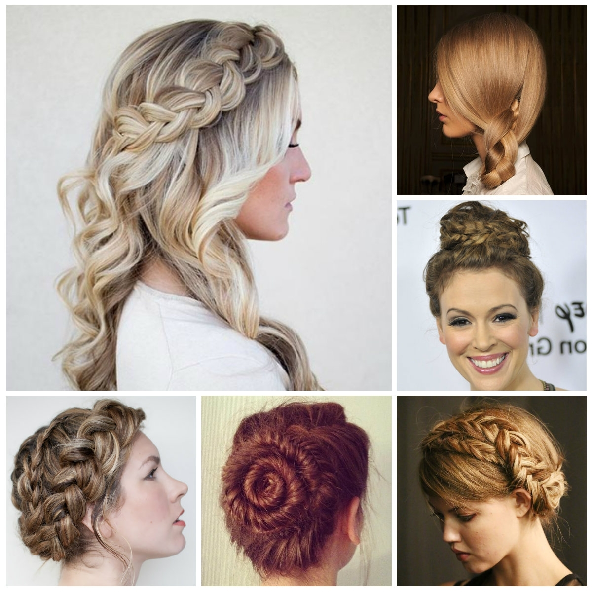 Updo Hairstyles : Easy Half Up Half Down Hairstyles For 2017 Image Regarding Updo Half Up Half Down Hairstyles (Gallery 10 of 15)