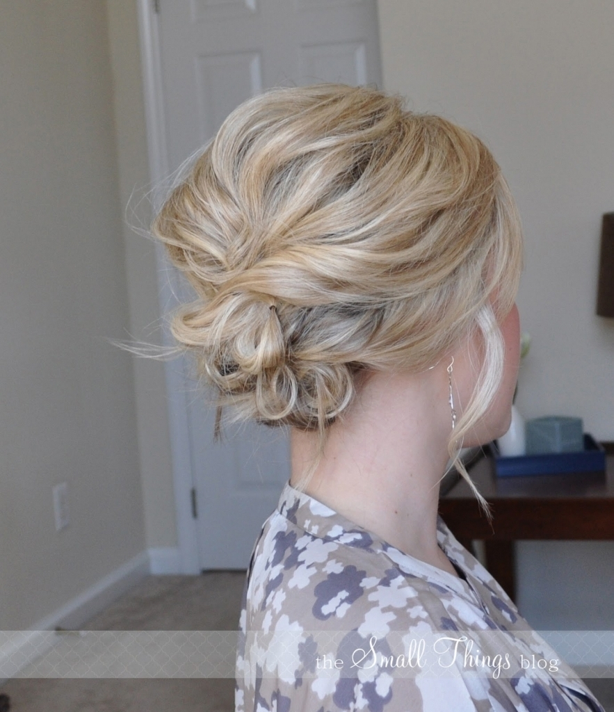 Updo Hairstyles Fine Hair Easy Hair Updos For Thin Hair Easy Updo In Updos For Fine Thin Hair (View 14 of 15)