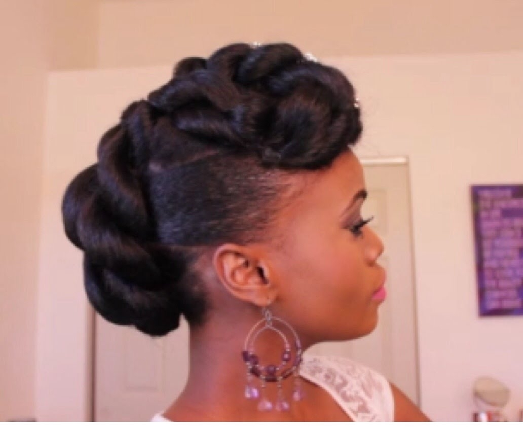 Updo Hairstyles For Black Natural Hair Bridal Updo On Ethnic Hair Pertaining To Ethnic Updo Hairstyles (View 2 of 15)