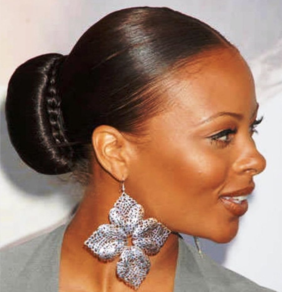 Updo Hairstyles For Black Women Who Love Style Within Updo Low Bun Hairstyles (View 13 of 15)