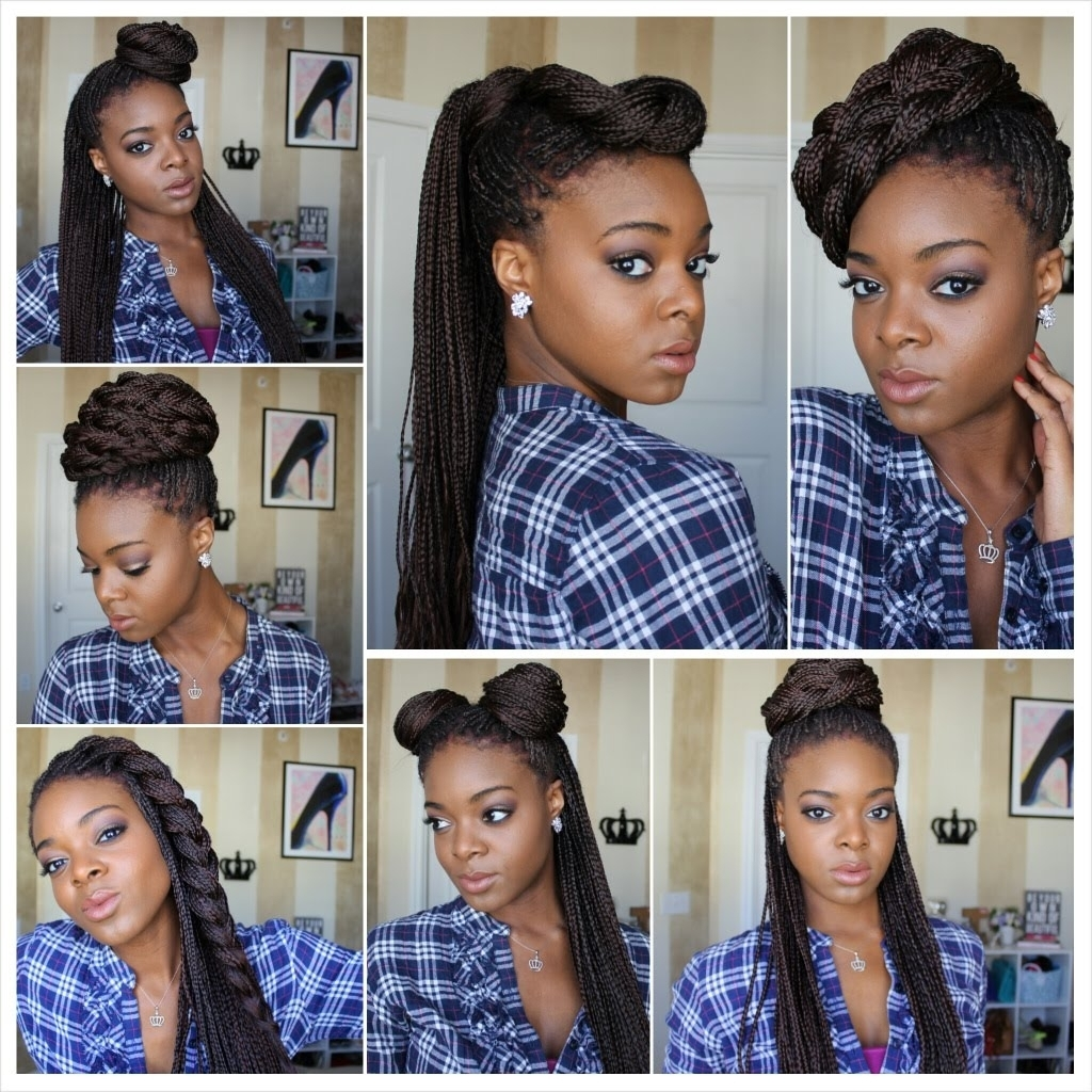 Updo Hairstyles For Box Braids Updo Hairstyles For Box Braids With Regard To Box Braids Updo Hairstyles (Gallery 5 of 15)