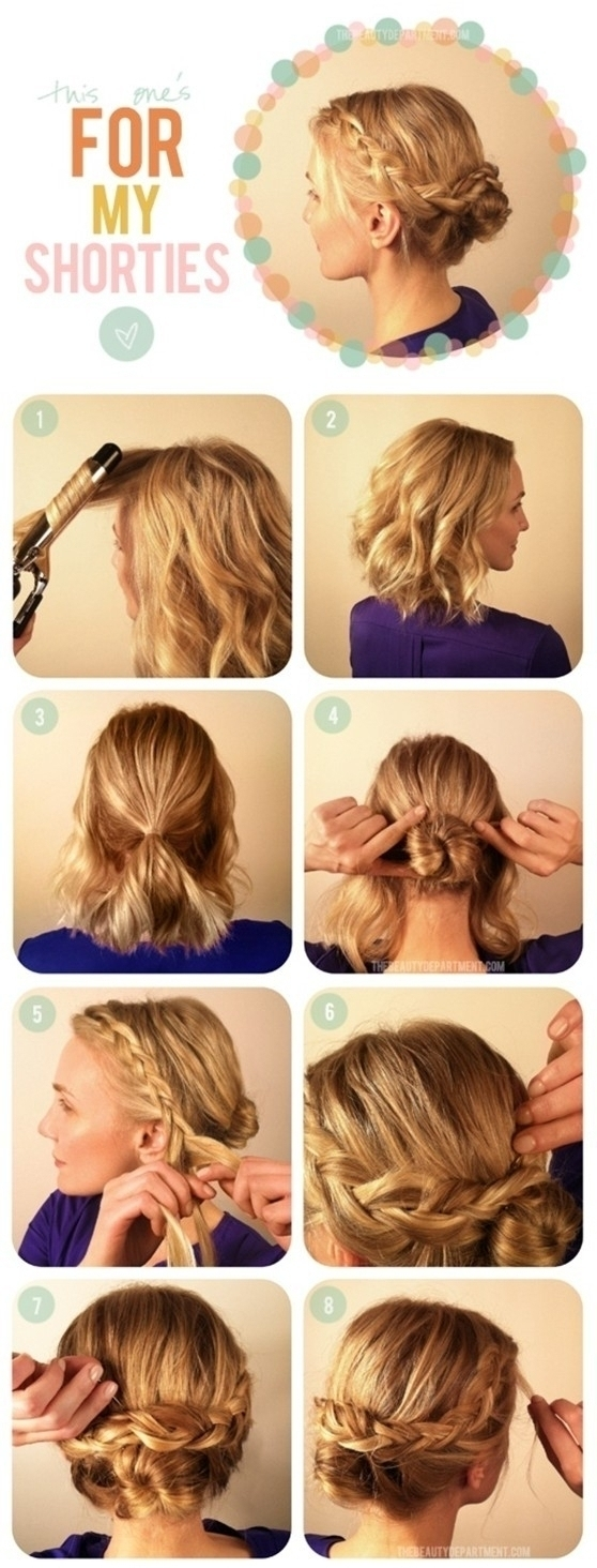 Updo Hairstyles For Layered Hair – Women Medium Haircut Within Easy Updo Hairstyles For Medium Hair To Do Yourself (View 15 of 15)