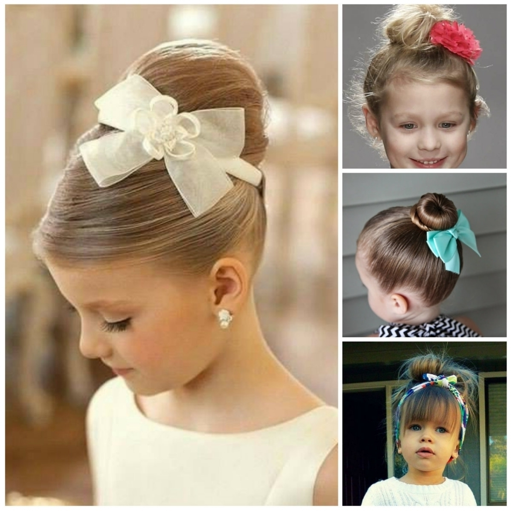 Updo Hairstyles For Little Girls Tag Cute Little Girl Updo In Little Girl Updo Hairstyles (View 14 of 15)