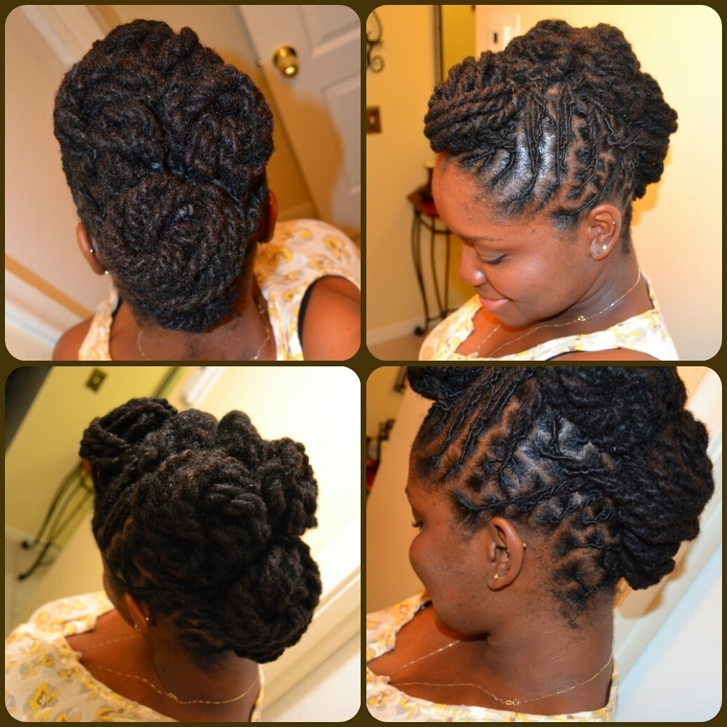 Updo Hairstyles For Locs Updo Hairstyles For Long Locs Easy Regarding Updo Dread Hairstyles (View 6 of 15)