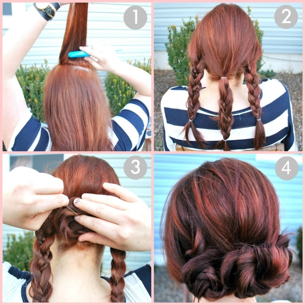 Updo Hairstyles For Long Hair Tutorial Easy Updo Hairstyle Tutorials Regarding Easy At Home Updos For Long Hair (View 15 of 15)