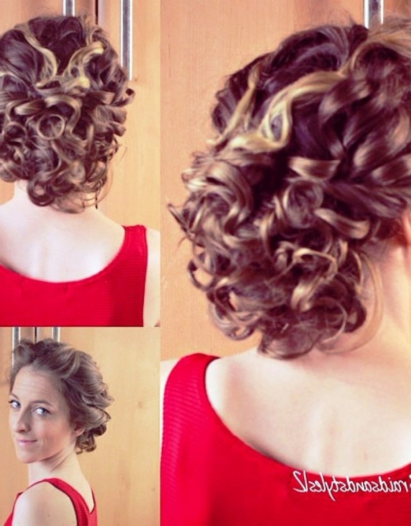 Updo Hairstyles For Short Curly Hair – Hollywood Official With Regard To Curly Hair Updo Hairstyles (Gallery 10 of 15)