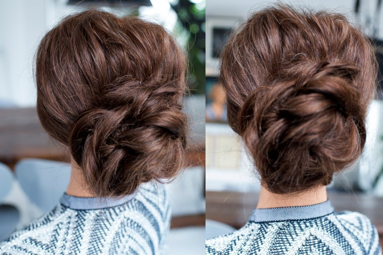 Updo Hairstyles Low Bun Easy Updo Hairstyles For Long Hair Youtube Intended For Long Hair Easy Updo Hairstyles (Gallery 12 of 15)