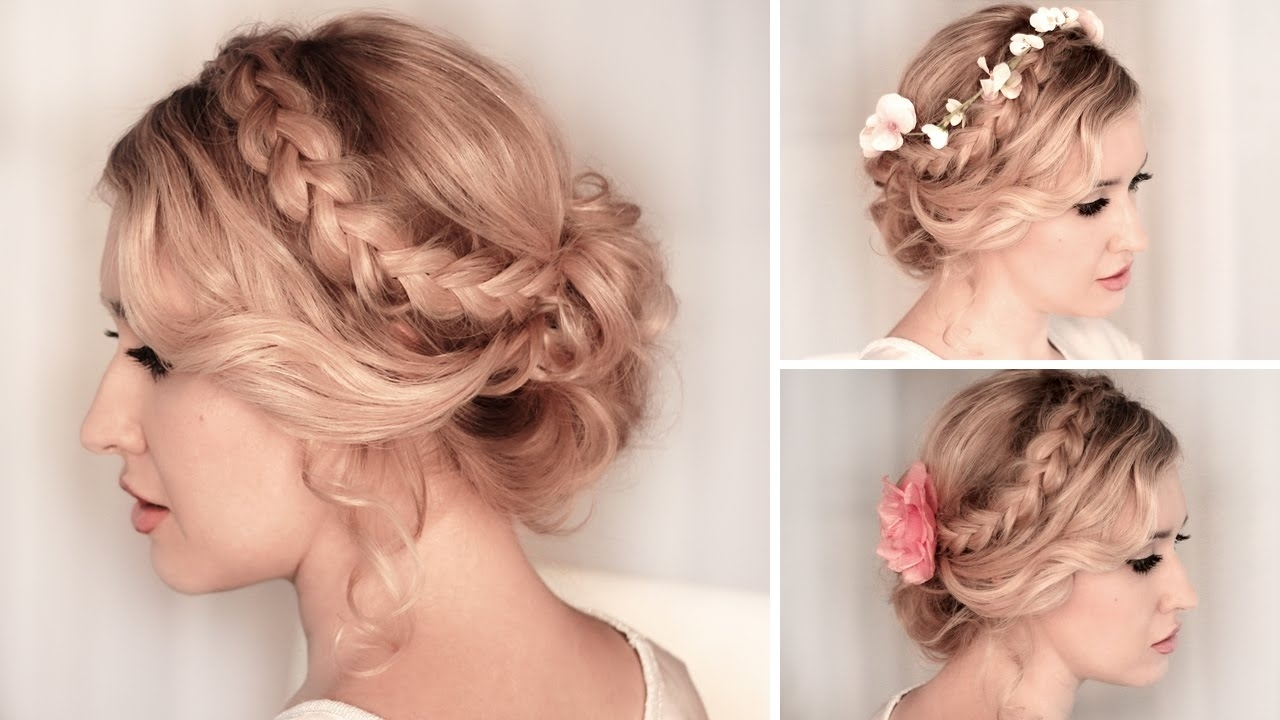 Updo Hairstyles Prom Braided Updo Hairstyle For Medium/long Hair Regarding Medium Long Hair Updo Hairstyles (Gallery 6 of 15)
