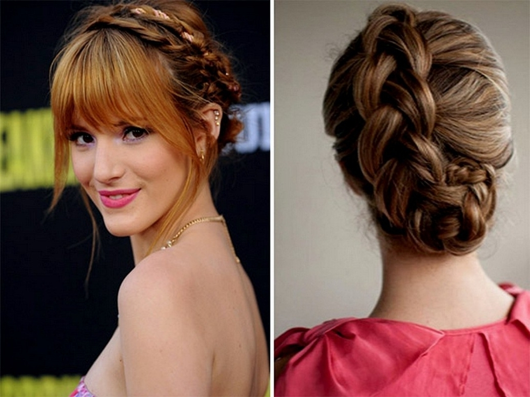 Updo Hairstyles With Bangs For Weddings – Women Medium Haircut Intended For Updos For Long Hair With Bangs (View 14 of 15)