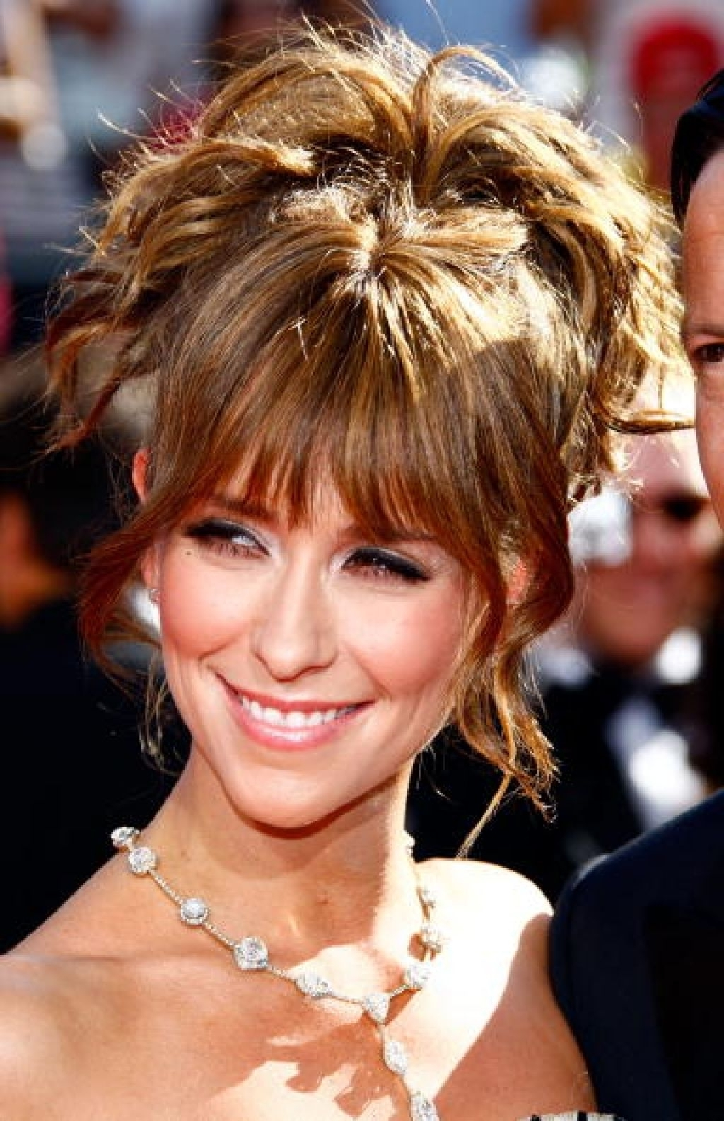 Updo Hairstyles With Bangs – Women Medium Haircut Within Updo Hairstyles With Fringe Bangs (View 2 of 15)