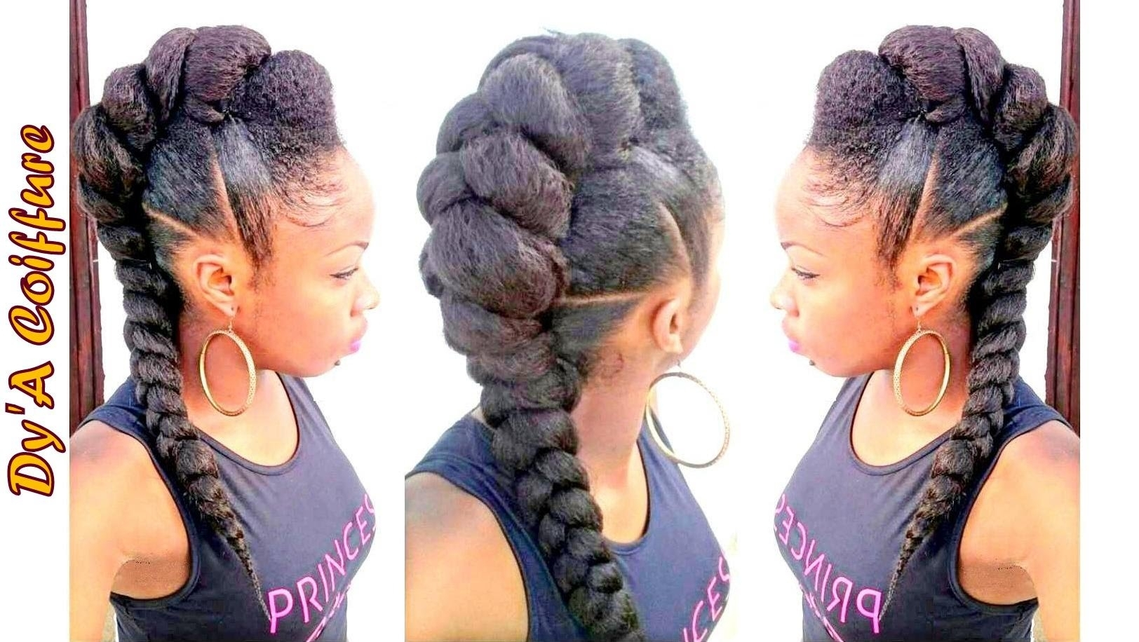 Updo Hairstyles With Braiding Hair Diy ☆ Mohawk / Faux Hawk Style Intended For Updo Hairstyles With Braiding Hair (Gallery 7 of 15)
