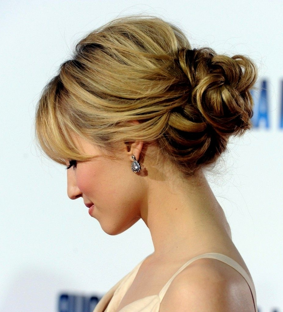 Updo Hairstyles With Fringe | Hairstyles Ideas With Updo Hairstyles With Bangs (View 4 of 15)