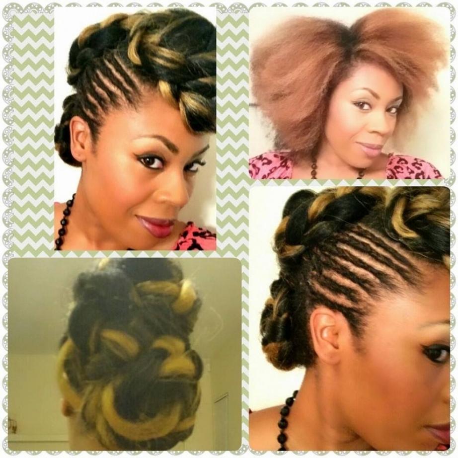 Updo Hairstyles With Kanekalon Hair Natural Hair Updo Kanekalon Regarding Natural Hair Updo Hairstyles With Kanekalon Hair (View 6 of 15)