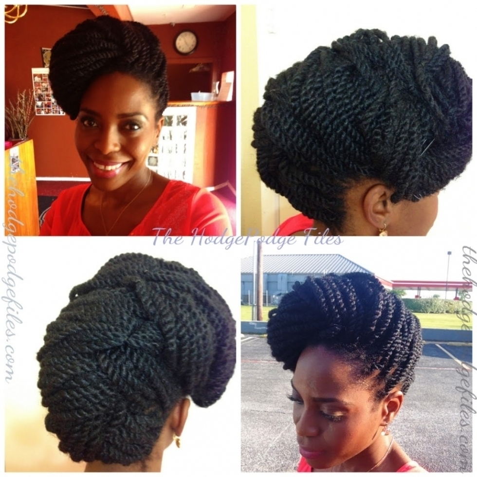 Updo Kinky Twists Hairstyles Black Hair Collection Kinky Twist Updo Pertaining To Twist Updo Hairstyles For Black Hair (View 14 of 15)