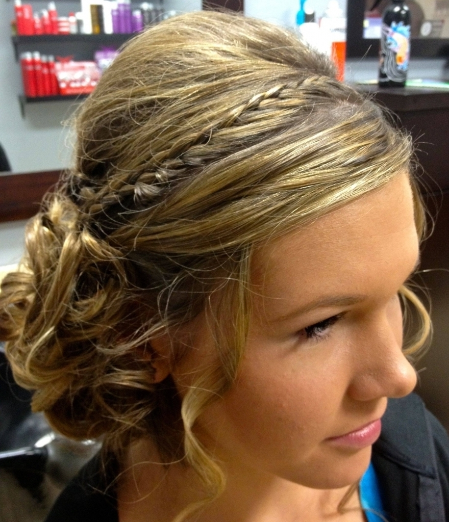 Updo Prom Hairstyle Image 8 Of 10 Medium Hair Prom Formal Updo Prom With Regard To Dressy Updo Hairstyles (View 15 of 15)