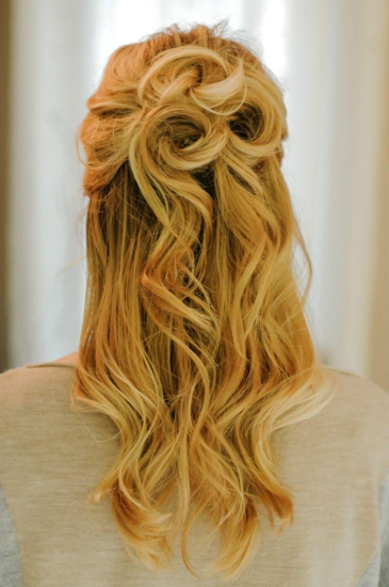 Updos For Medium Hair Half Up Half Down 21 Gorgeous Half Up Half With Updo Half Up Half Down Hairstyles (Gallery 5 of 15)