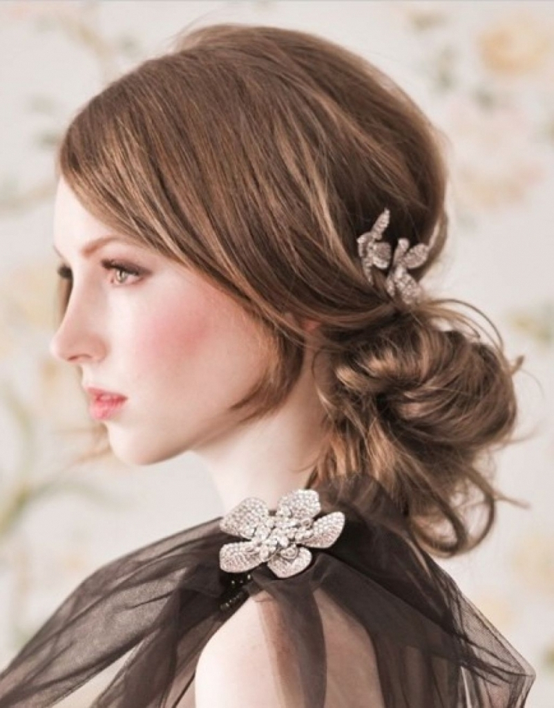 Updos For Medium Hair With Bangs Formal Hairstyle For Medium Hair With Regard To Updo Hairstyles With Bangs For Medium Length Hair (View 4 of 15)