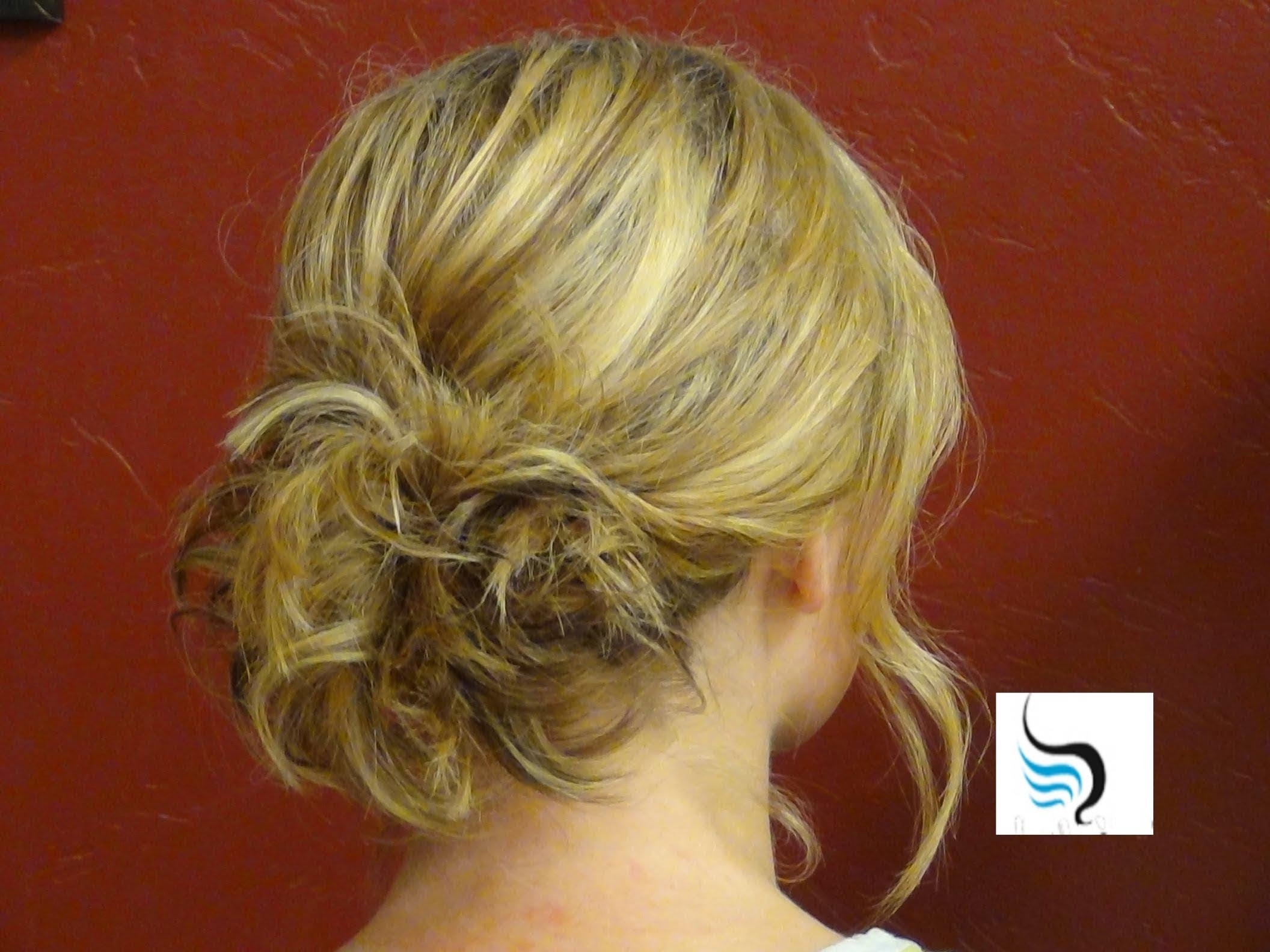 Updos) For Shoulder Length Hairstyles – Youtube Within Messy Updos For Medium Length Hair (View 8 of 15)