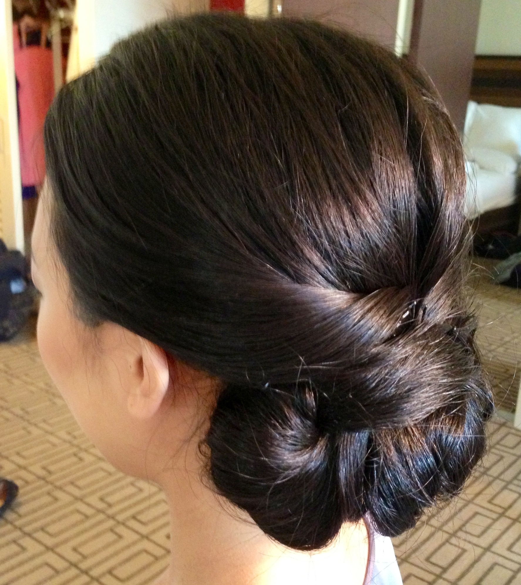 Updos For Thick Long Hair Women Medium Outstanding Asian Hairstyles In Chignon Updo Hairstyles (View 14 of 15)