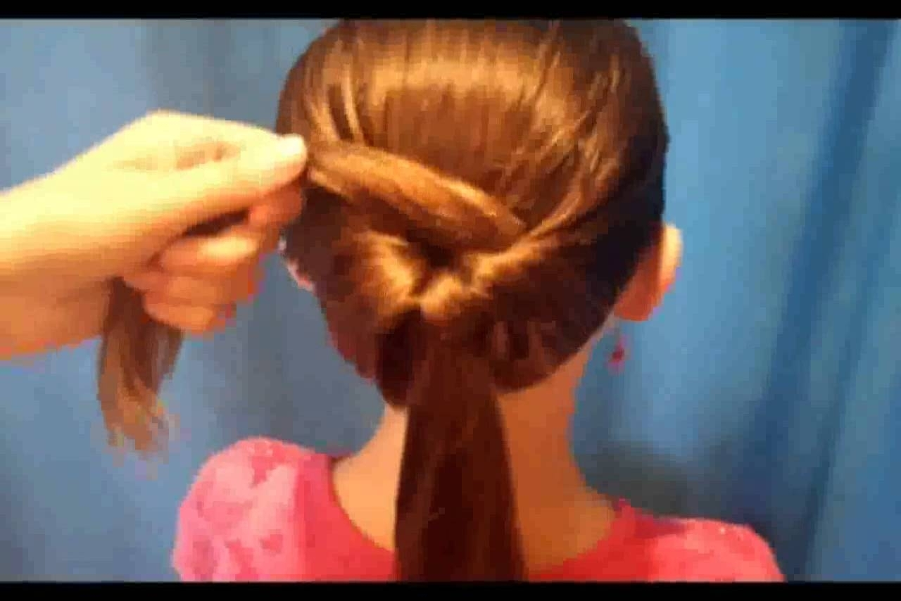 Very Easy Hairstyles For Medium Hair – Youtube Within Easy Updo Hairstyles For Kids (Gallery 11 of 15)