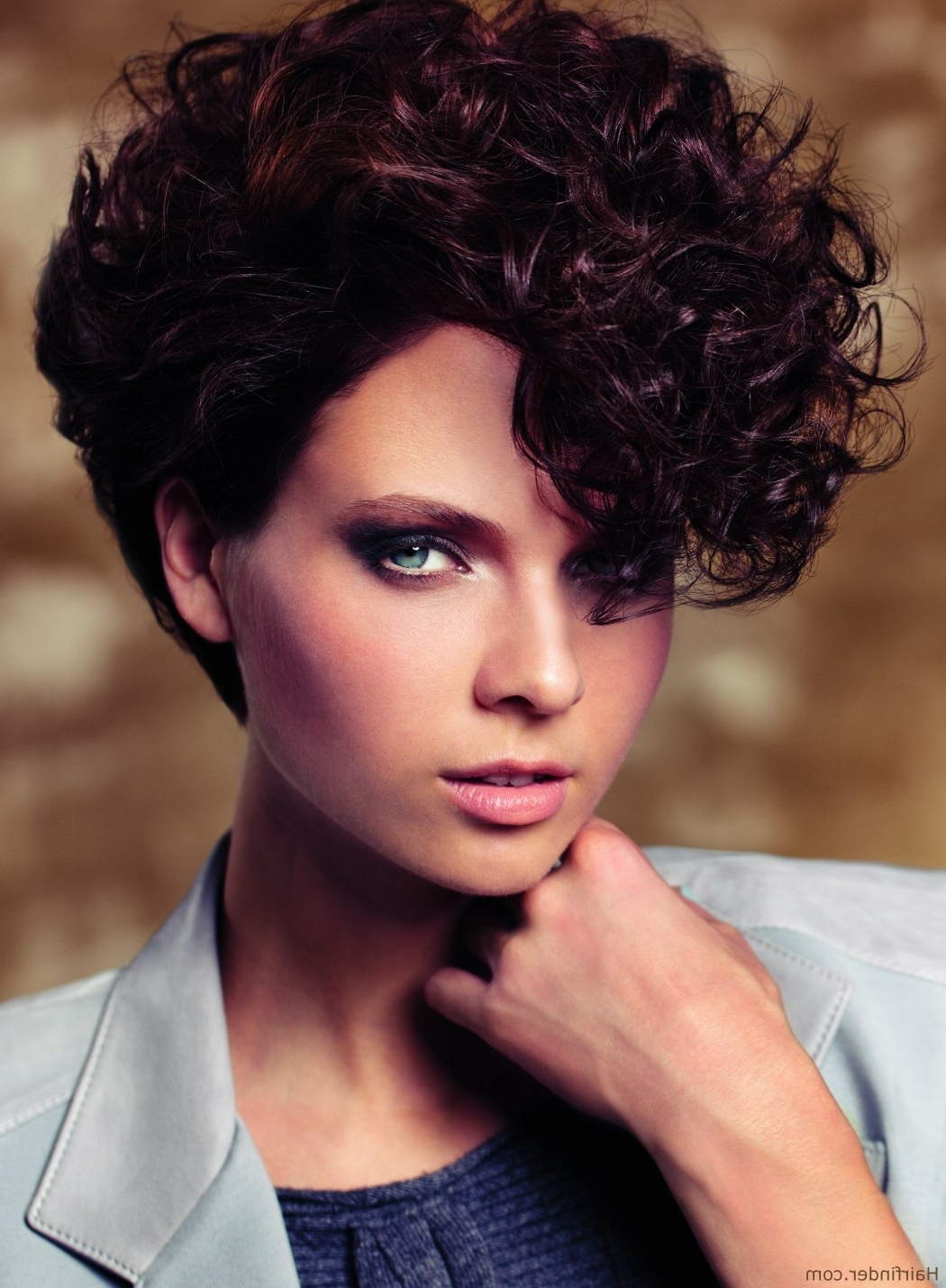 Very Short Hairstyle With Curls, Inspiredthe 80S Pertaining To 80S Hair Updo Hairstyles (Gallery 9 of 15)