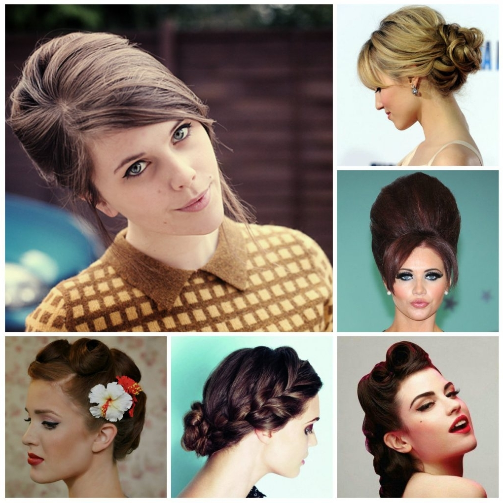 Vintage Updo Hairstyles For Long Hair 6 Pin Up Looks For Beginners Intended For Easy Vintage Updo Hairstyles (Gallery 6 of 15)