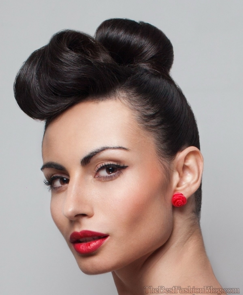 Vintage Updo Hairstyles For Long Hair Vintage Hairstyles Updo Black In Vintage Updo Hairstyles (Gallery 7 of 15)