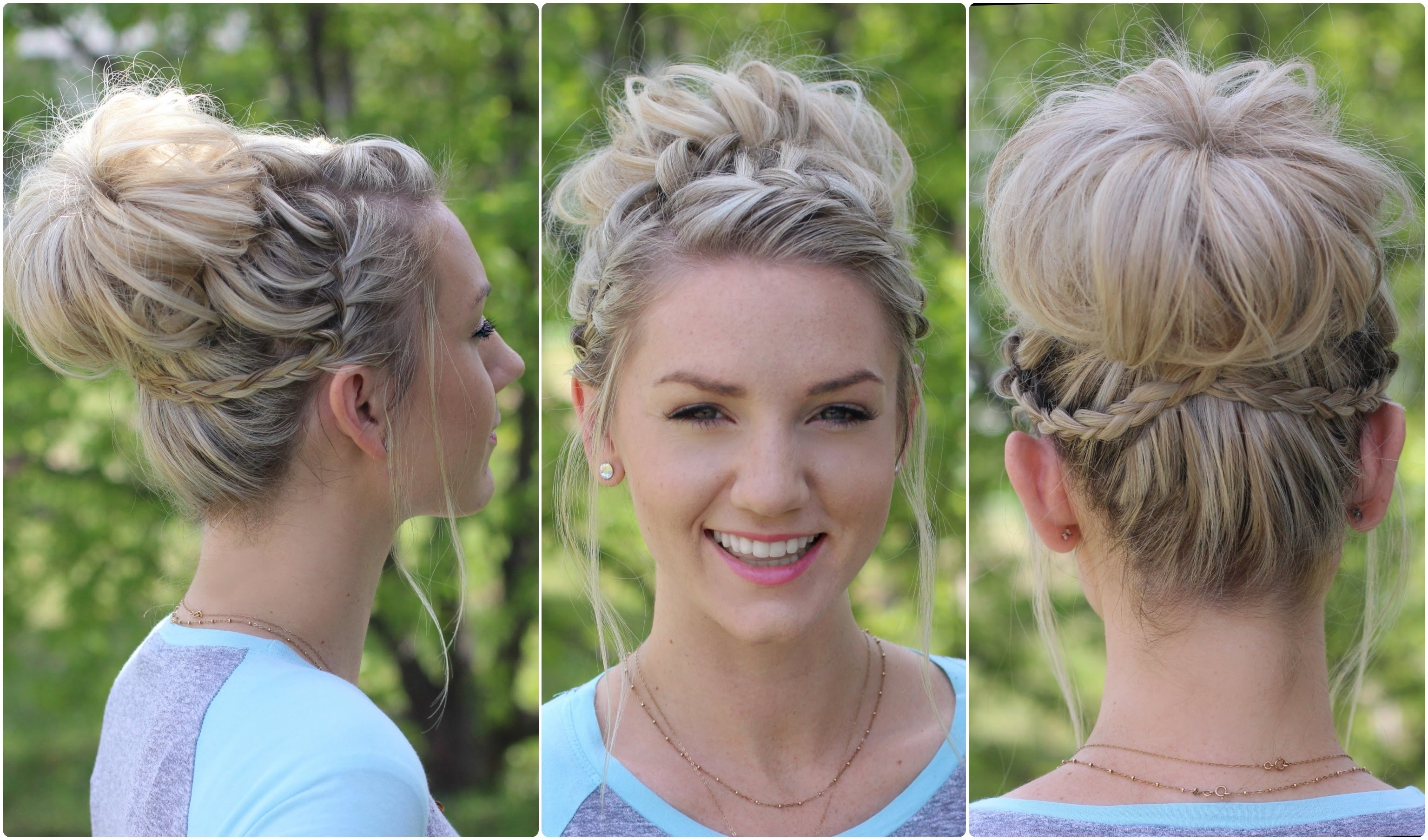 Waterfall Bun | Updo | Cute Girls Hairstyles – Youtube Within Cute Updo Hairstyles (View 15 of 15)