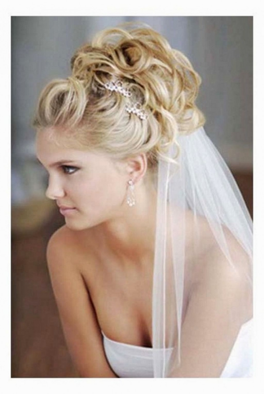 Wedding Bun Hairstyles With Veil | Hairstyles Ideas | Latest Inside Wedding Updo Hairstyles With Veil (View 5 of 15)