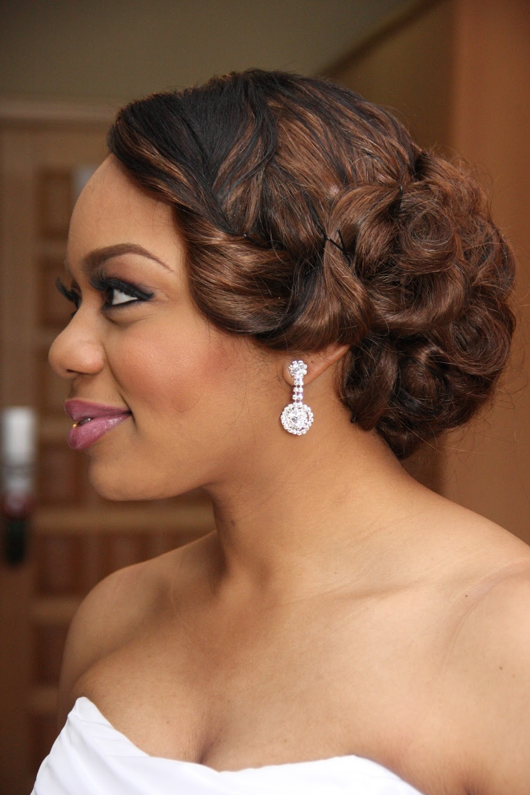 Wedding Digest Love The Hair Do On This One Too! | Weddings Pertaining To Updo Hairstyles For Black Bridesmaids (View 14 of 15)