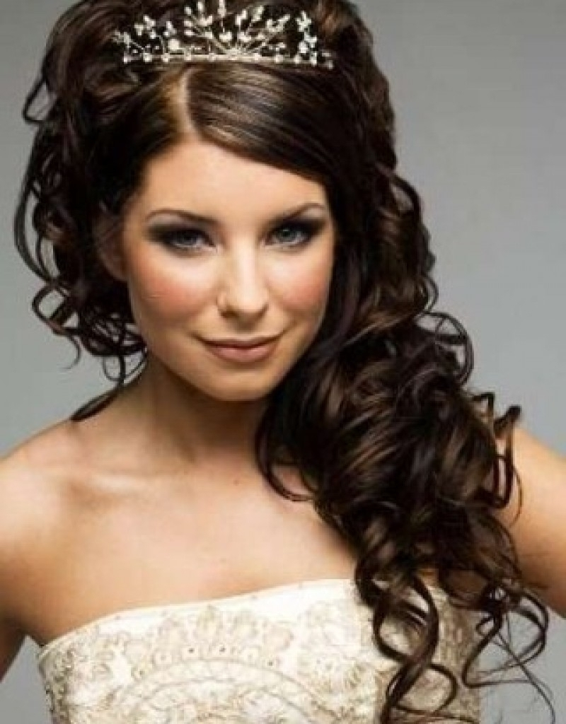 Wedding Hairstyle Curly Hair – Popular Long Hairstyle Idea Intended For Bridal Updos For Curly Hair (View 9 of 15)