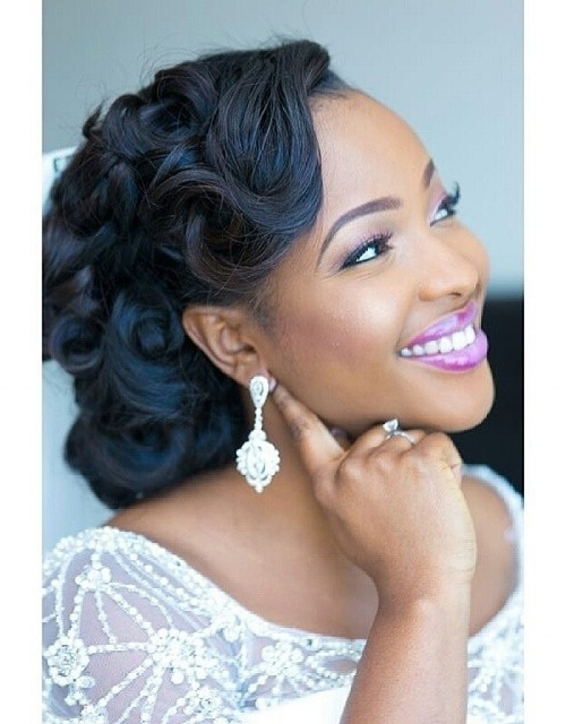 Wedding Hairstyle For Black Girls – Popular Long Hairstyle Idea Throughout Black Bride Updo Hairstyles (View 14 of 15)