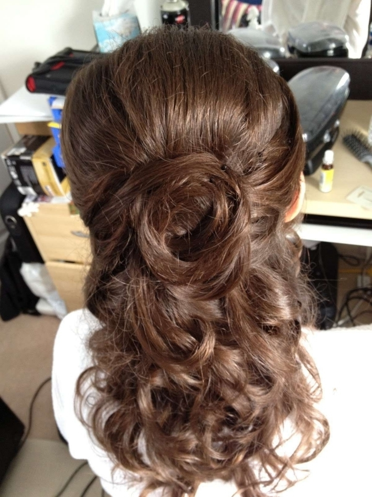 Wedding Hairstyle Half Up Half Down With Curls Wedding Hairstyles Inside Curly Half Updo Hairstyles (View 13 of 15)