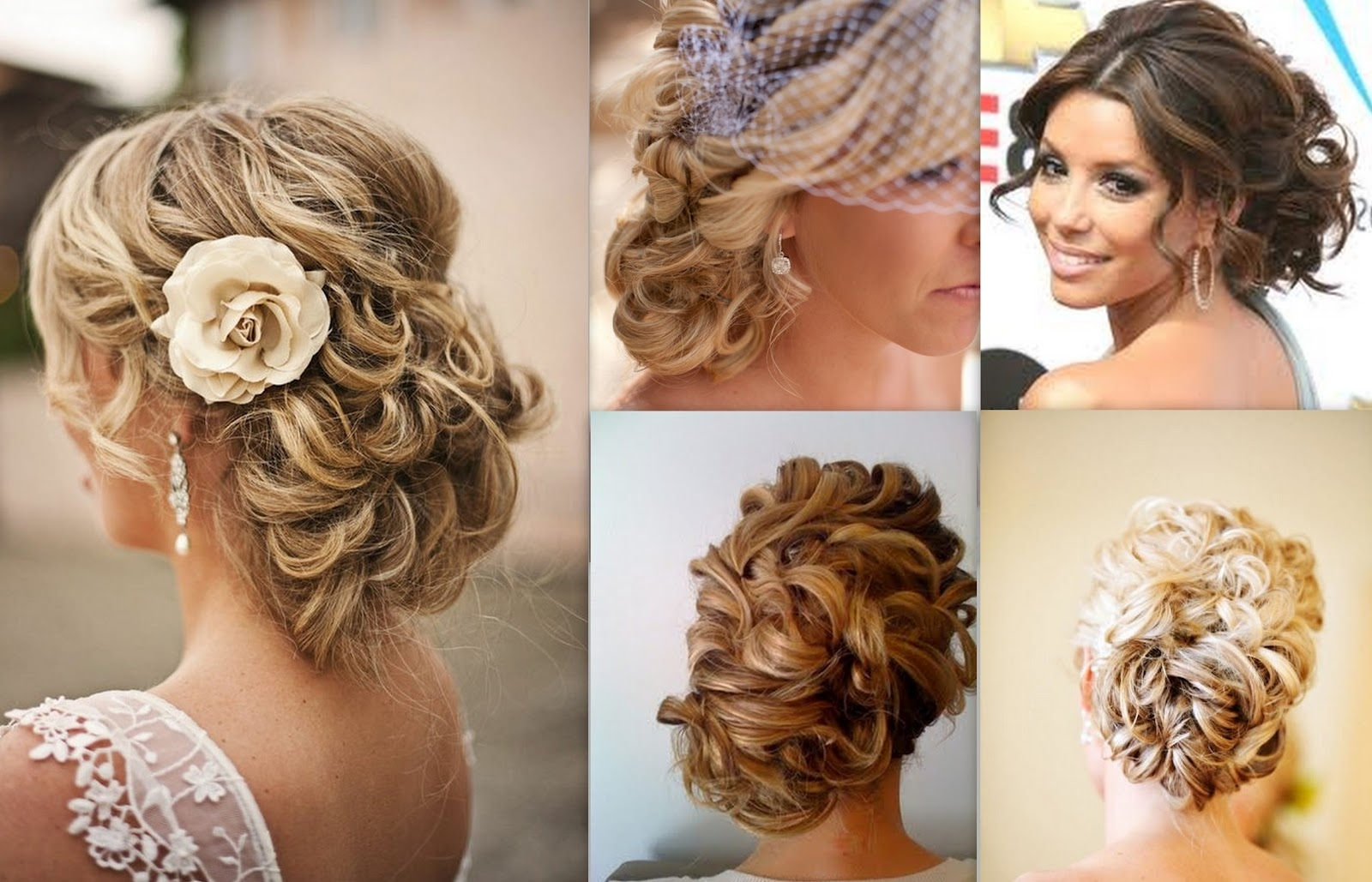 Wedding Hairstyles Curls To The Side | Best Wedding Hairs For Wedding Updo Hairstyles With Veil (View 7 of 15)