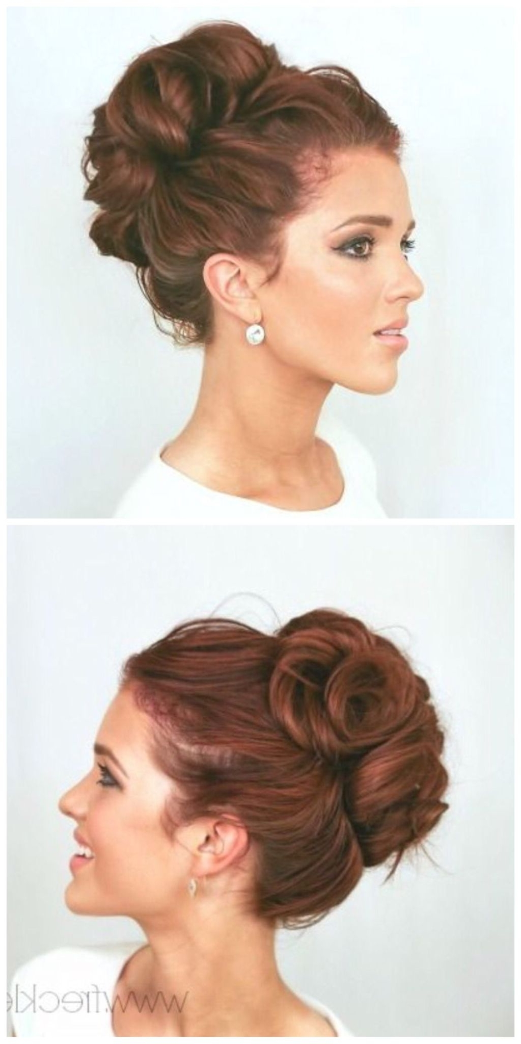 Wedding Hairstyles | Elegant Bun, Elegant And Hair Style In High Updo Hairstyles For Medium Hair (View 6 of 15)