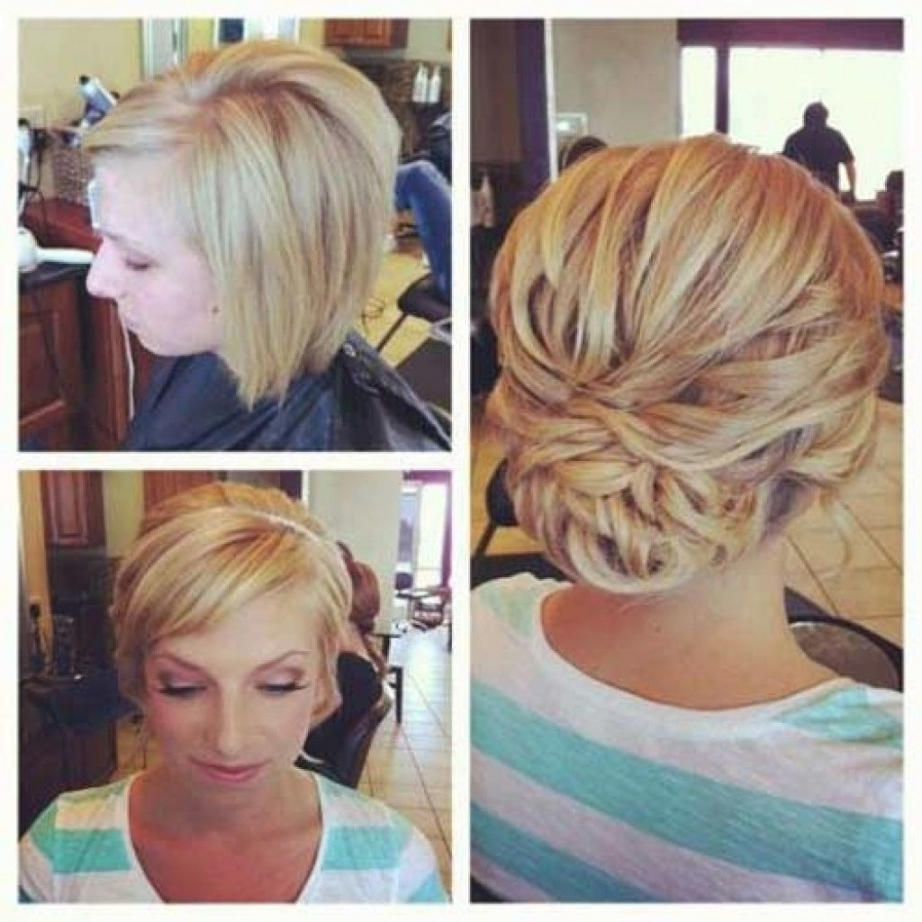 Wedding Hairstyles For Short Hair Updos Throughout Wedding Hairstyles For Short Hair Updos (View 14 of 15)