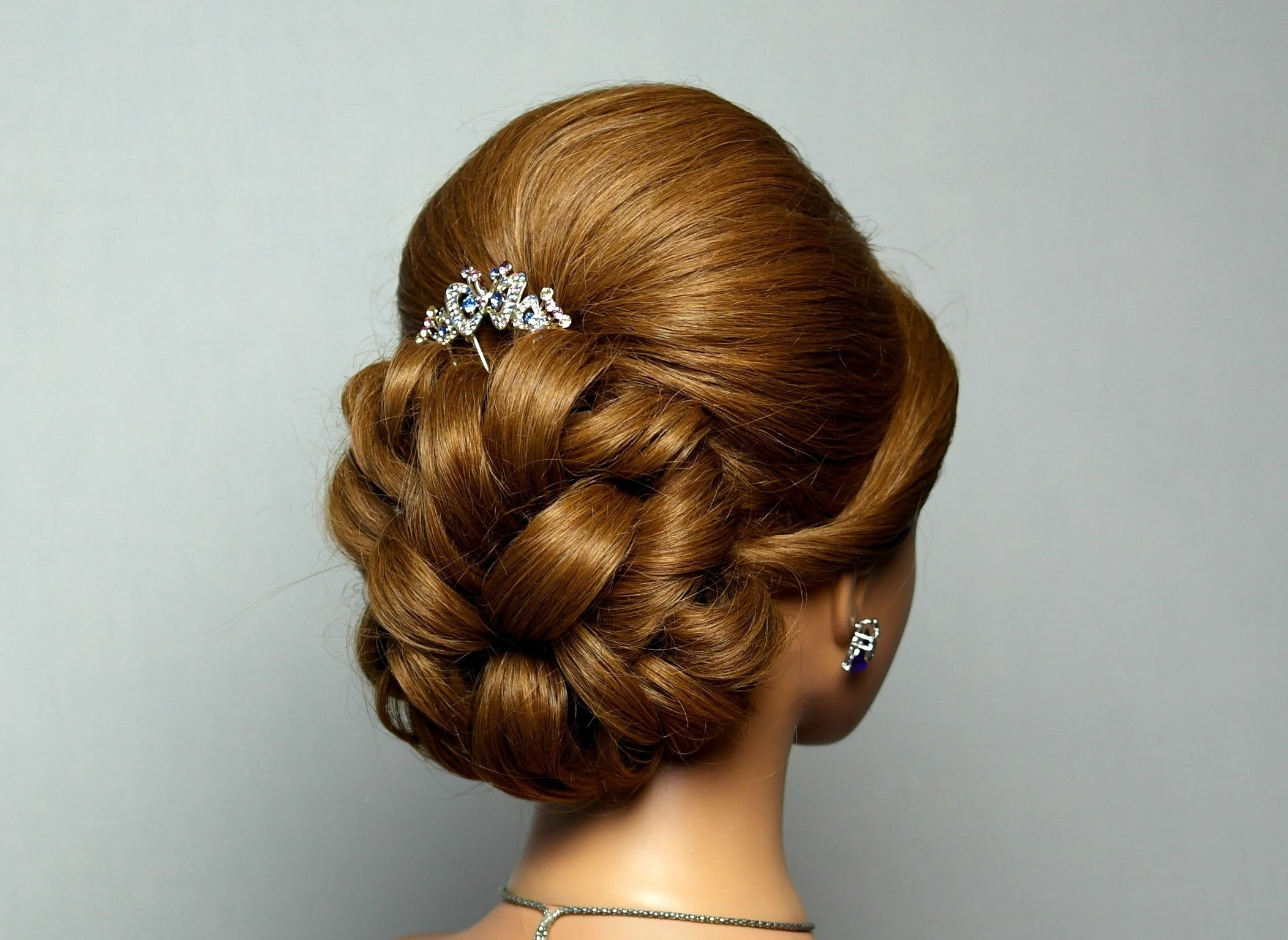 Wedding Prom Hairstyle For Long Hair. Bridal Updo (View 9 of 15)