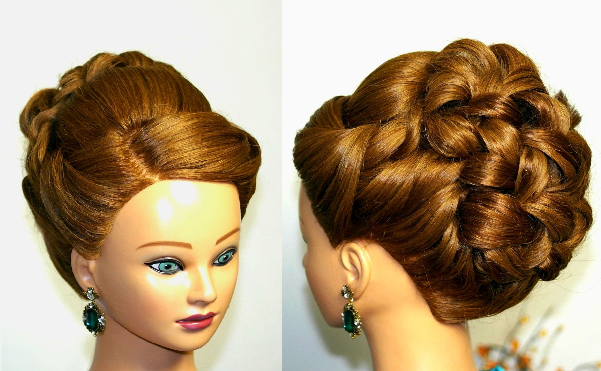 Wedding Prom Hairstyle For Long Hair. Updo Tutorial (View 15 of 15)