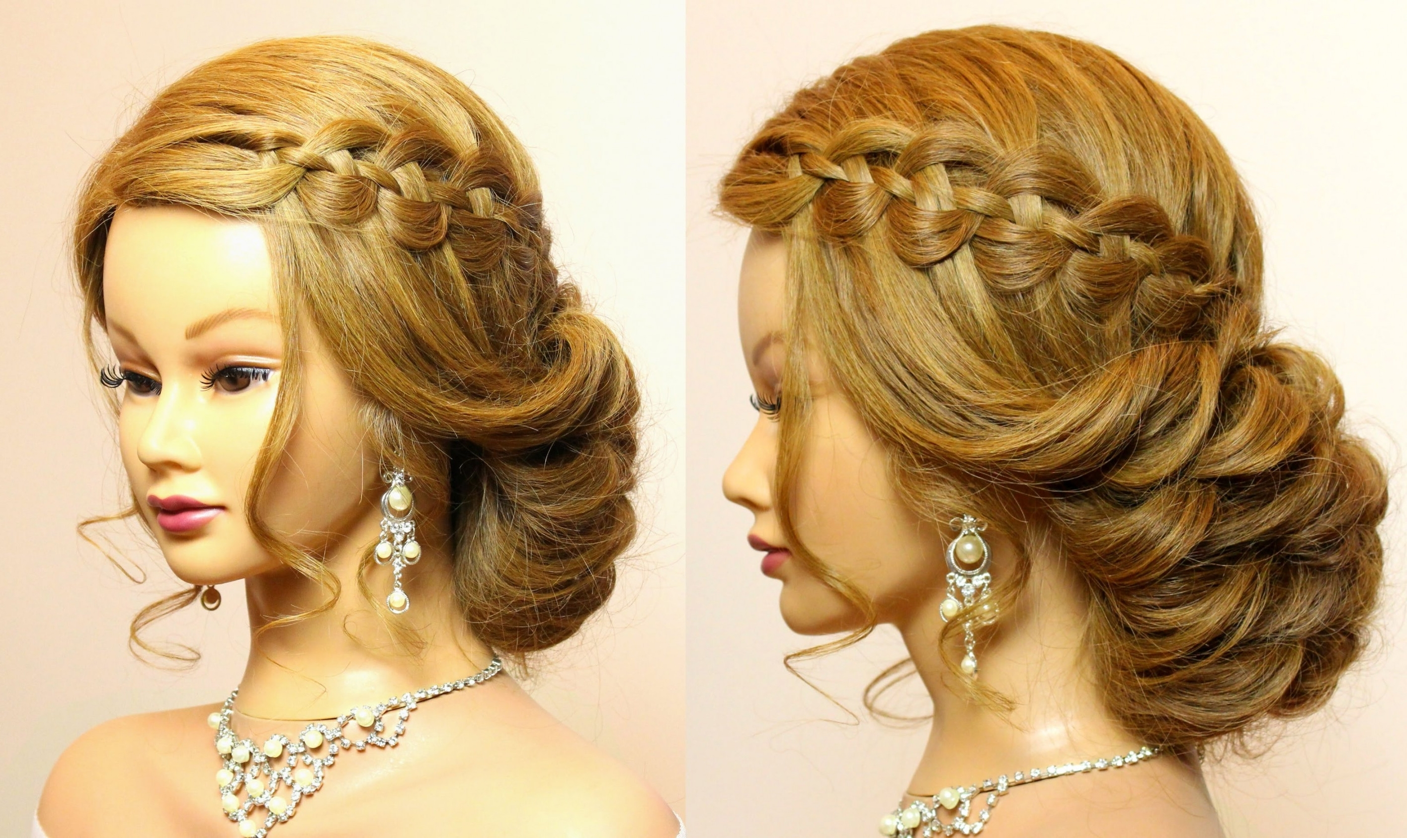 Wedding Prom Hairstyles For Long Hair Tutorial Bridal Updo Youtube For Updos For Brides With Long Hair (View 14 of 15)