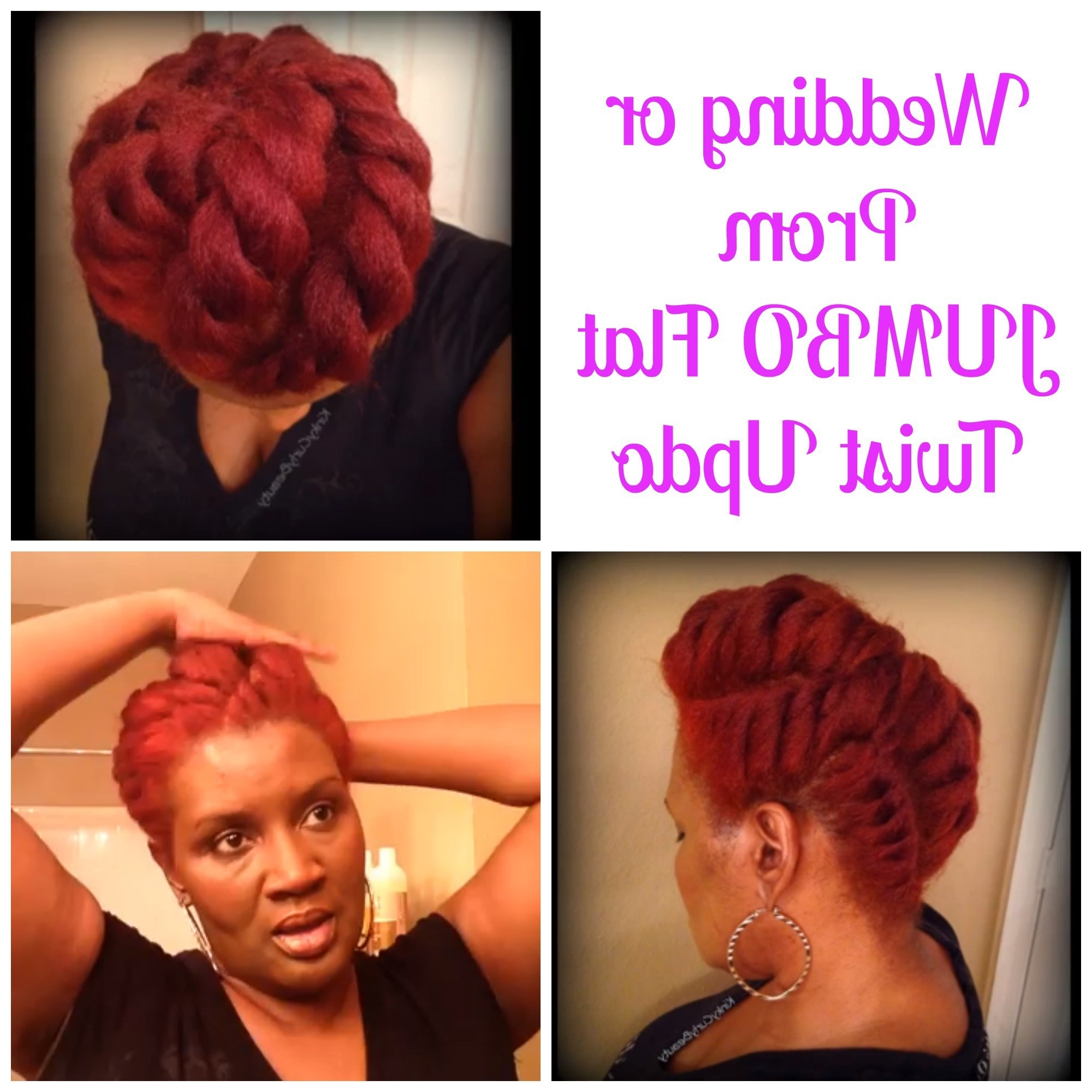 Wedding/prom Jumbo Flat Twist Updos Perfect For Any Season | Natural Within Jumbo Twist Updo Hairstyles (View 15 of 15)