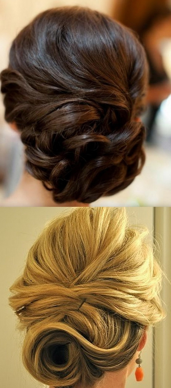 Wedding Updo Hairstyles For Bride 2018 | Wedding Buns Hairstyles For Bridesmaid Updo Hairstyles (View 14 of 15)