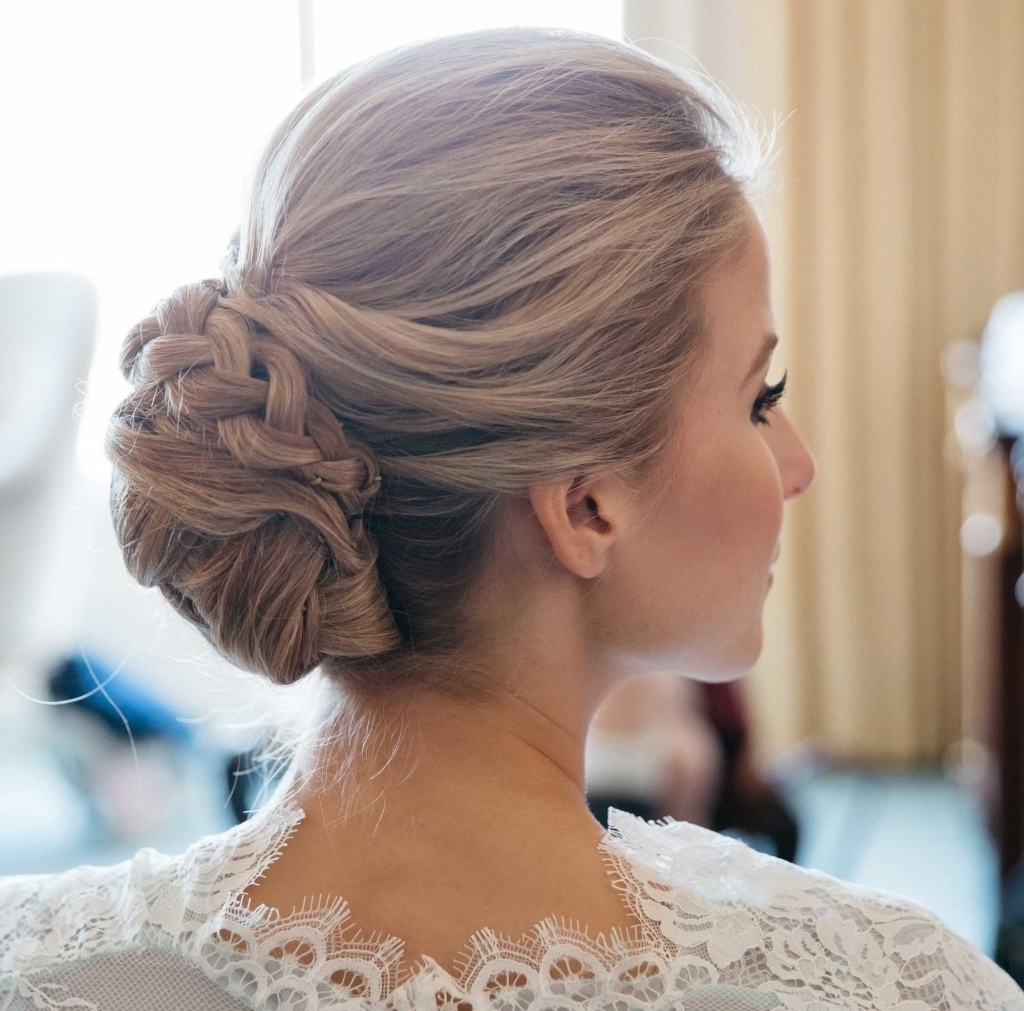 Wedding Updo With Braid – Popular Long Hairstyle Idea With Regard To Wedding Updo Hairstyles (View 15 of 15)